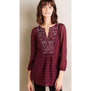 One September Madiran Blouse burgundy boho sequin